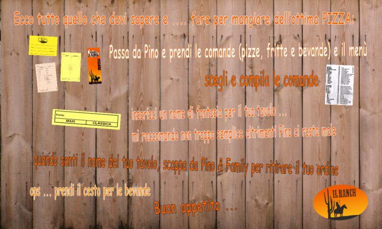 Come funziona - Pizzeria Il Ranch
